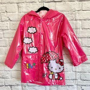 4/$20🍄 HELLO KITTY Pink Hooded Raincoat Jacket